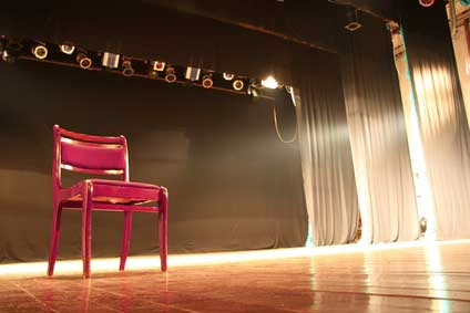 theatre stage set for audition
