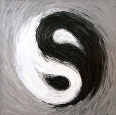 light singing represented by ying and yang