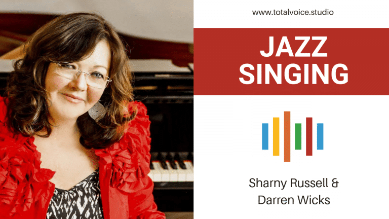 Jazz singing headshot of Sharny Russell